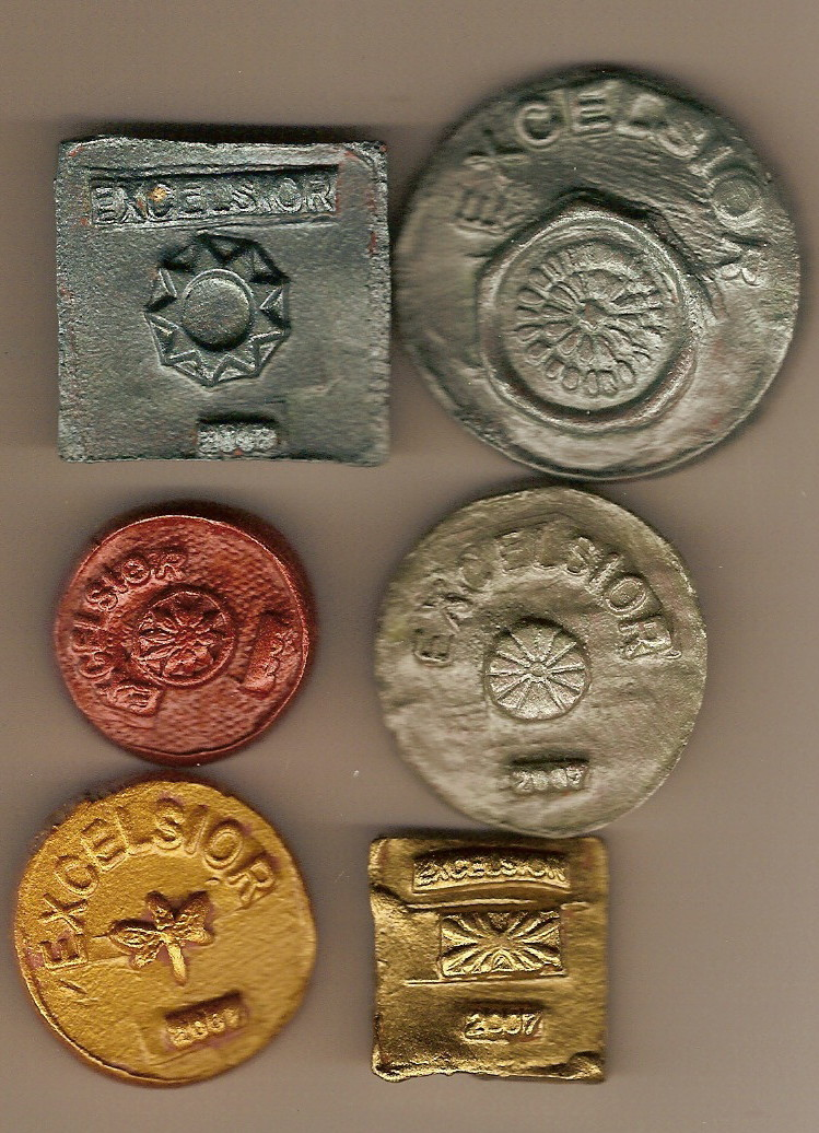 EXCELSIOR CLAY COINS